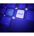 The button sale on a virtual keyboard vector image
