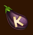 eggplant icon for slot game vector image vector image