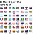 american continent flags vector image