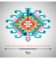 colorful decorative element on native ethnic style vector image vector image