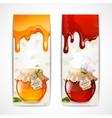 Honey banners vertical vector image