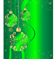 ornate ornaments green vector image vector image