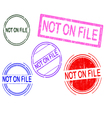 5 Grunge Stamps NOT ON FILE vector image