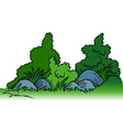 Shrubs with Rocks vector image