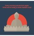 Flat Buddha Icon vector image