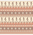 Tribal seamless pattern in pastel colors vector image