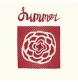 Retro summer card emblem vector image