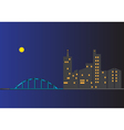 cityscape at nighttime vector image