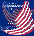 congratulation independence day with flag on blue vector image