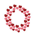 hearts and love frame vector image