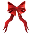 Holiday red bow vector image