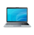 laptop isolated on white vector image