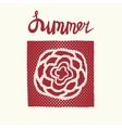 Retro summer card emblem vector image