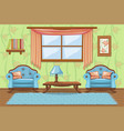 set cartoon cushioned furniture living room vector image