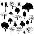 set of different trees vector image
