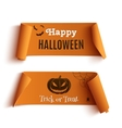 Two Halloween banners isolated on white vector image