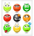 Set smiles with different expression of emotions vector image
