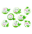 spring sale and springtime holiday label set vector image vector image