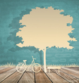 Abstract background with bicycle under tree vector image vector image
