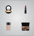 Realistic pomade concealer blusher and other vector image