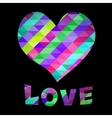 Heart and Love text vector image vector image