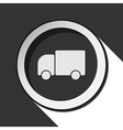 black icon with lorry car and stylized shadow vector image