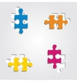 Background with puzzle pieces vector image vector image