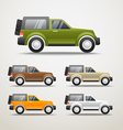 Different color cars vector image vector image