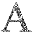 A letter capital black vector image