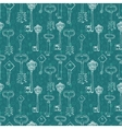 background with retro keys vector image