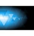 Dark blue tech background vector image
