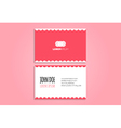 Funny modern business card design vector image