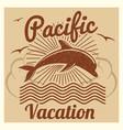 grunge vintage summer travel vacation vector image