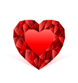 ruby heart red vector image