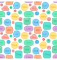 Seamless pattern speech bubbles social network vector image