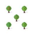 Set of garden trees in the flat design vector image