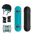 set of roller skating or skateboarding vector image