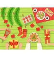 Family At The traditionally Served Christmas Table vector image