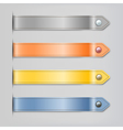 Abstract leather ribbon with button banners set vector image