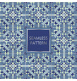 blue seamless pattern with silver inserts vector image