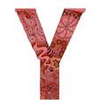letter y zentangle decorative object letter y vector image