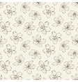 Cherry blossom seamless pattern vector image