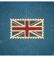 Retro United Kingdom Flag Postage Stamp vector image vector image