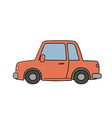 old style drawn car vector image vector image