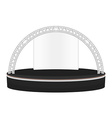 black color flat style dais round stage metal vector image
