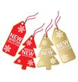 christmas sales tag vector image