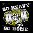 Heavy dumbbell in hand Modern grunge style vector image