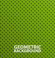 Creative 3D abstract green geometric background vector image