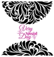 Very special day ornament frame vector image vector image