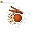 Masala Chai Traditional Indian Black Hot Tea vector image vector image